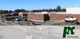 Time lapse images of Tualatin High School Construction
