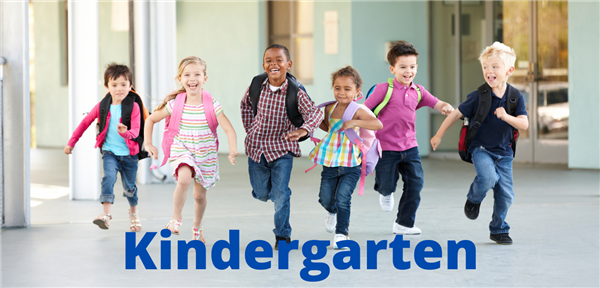 Kindergarten kids running