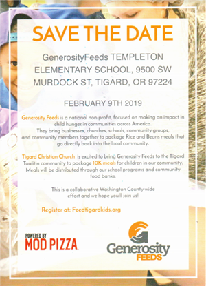 Generosity Feeds at Templton