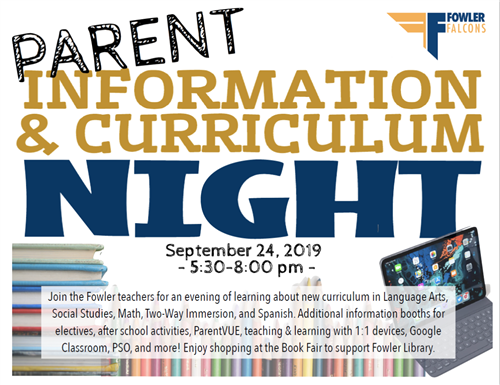 Parent Information and Curriculum Night