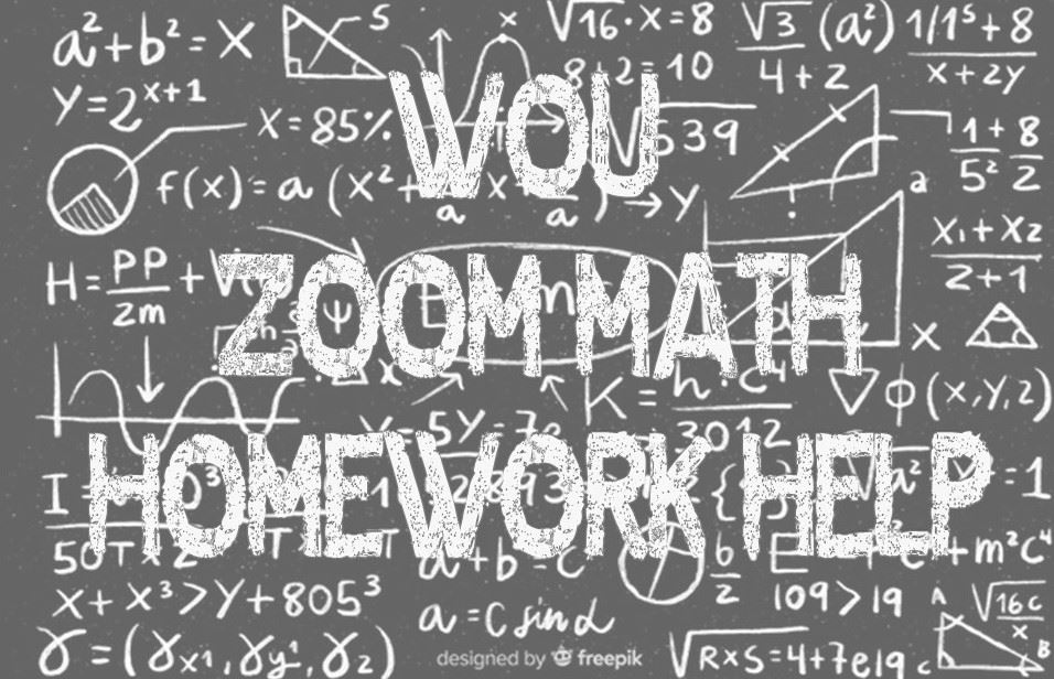 ZOOM Math Homework Help!