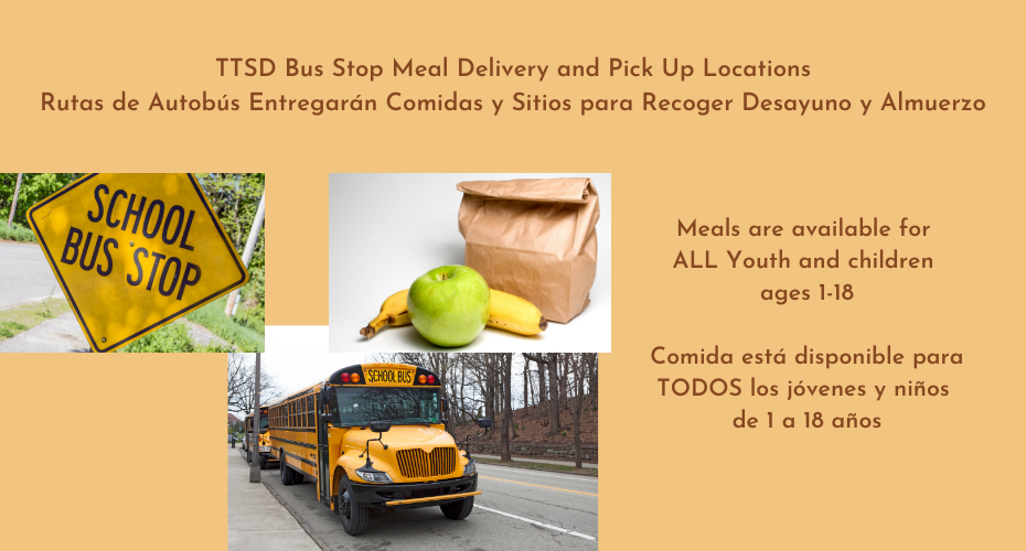 Meals are available to all youth and children ages 1-18.  The bus routes have been updated with additional information. Meals will be available today.
