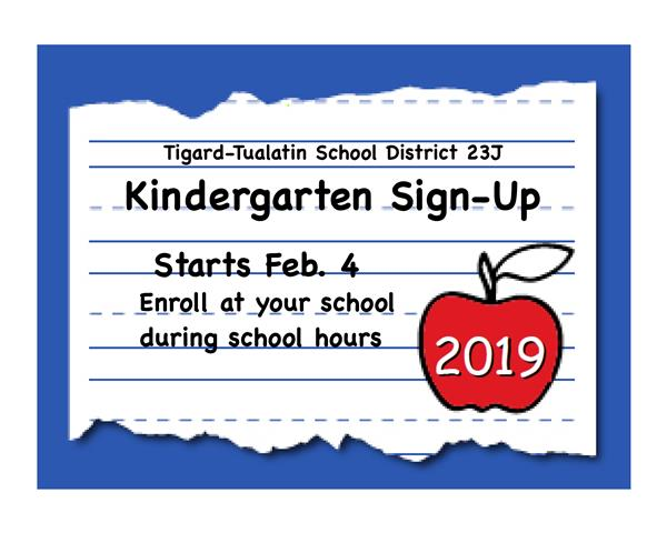 Sign Up for Kindergarten