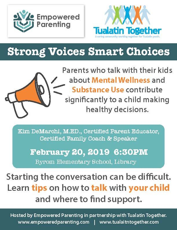Strong voices and smart choices event