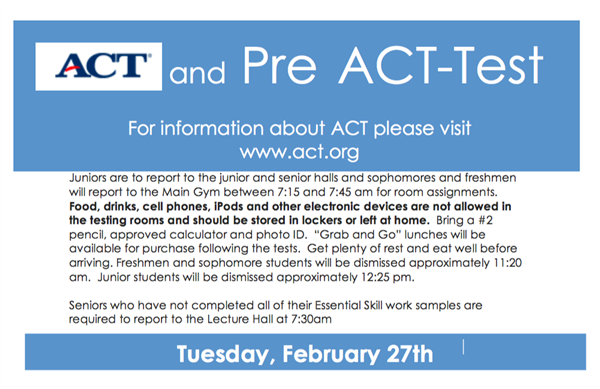 ACT Day - February 27th